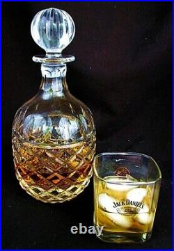 ANTIQUE CRYSTAL WHISKEY DECANTER CUT CRYSTAL LG STOPPER c. 1920