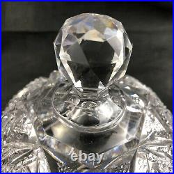 Antique ABP Brilliant Cut Glass Covered Butter Dish