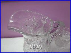 Antique Abp Cut Crystal Pitcher And 6 Tumblers Signed Libbey Rare Stunning