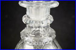 Antique Anglo Irish Georgian Cut Glass Decanter With Original Stopper
