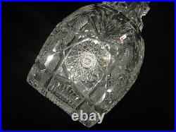 Antique Large Pair Cut Crystal Decanters by Straus