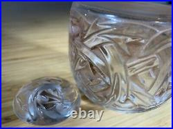 Antique Rene Lalique Epines Rose Stained large Perfume Bottle Signed and MINT
