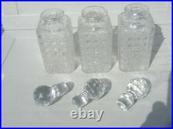 Antique Tantalus Silver Plated 3 Decanters