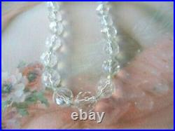 Antique Victorian Vintage Necklace with Glass Crystal Facet Cut Beads Jewelry