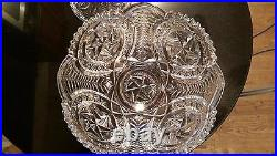 Awesome Very Rare Huge Antique Punch bowl on Rasied Base Press Cut