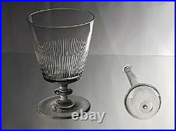 C. 1790, Antique George III Large Cut Glass Rummer, Knopped Stem + Toddy Lifter