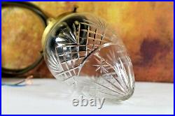 Ceiling Light An Antique Cut Crystal Glass Acorn Pendant & Gallery Early 20th C