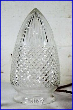 Ceiling Light An Antique Cut Glass Crystal Acorn Pendant Victorian early 20th C