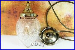 Ceiling Light An Antique Victorian Cut Crystal Glass Acorn Pendant & Gallery