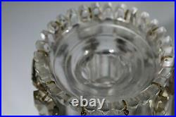 Clear cut glass Victorian Table Mantle lustres Antique