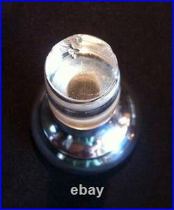 Cut Glass Decanter with Monogramed Sterling Silver Top