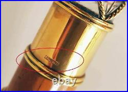EXTREMELY RARE RUSSIAN IMPERIAL GOLD and CUT GLASS MOUNTED CANE