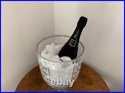 Huge Antique Victorian Crystal Cut Glass Champagne Cooler Wine Bucket. 1875