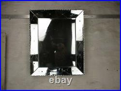 Large Art Deco Nouveau Wall Hanging Ornate Mirror Vanite Cut to Clear Glass WOW