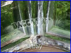 Pair Antique Baccarat Candlesticks, Lustres And Storm Shades. Signed Baccarat 1900