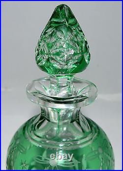 Perfume, cologne, rock crystal, elegant abp, green cut to clear glass 8