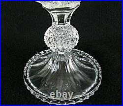 Rare Antique BACCARAT Flawless Crystal Pedestal Bowl with Deeply cut Diamonds