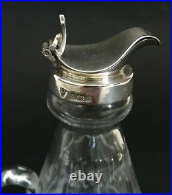Sterling Silver Topped Royal Brierley Cut Glass Whisky Noggin Birmingham 1985