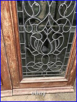 Stunning Antique French Doors Period Reclaimed Cut Crysal / Glass Hardwood