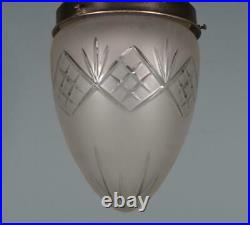 Vintage French & Cut Glass Hanging Lamp/Chandelier