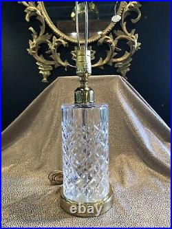 Vintage Waterford Cut Clear Glass Cylinder Table Lamp